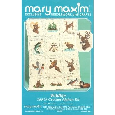 Mary Maxim - Wildlife Afghan Pattern - Patterns - Patterns & Books