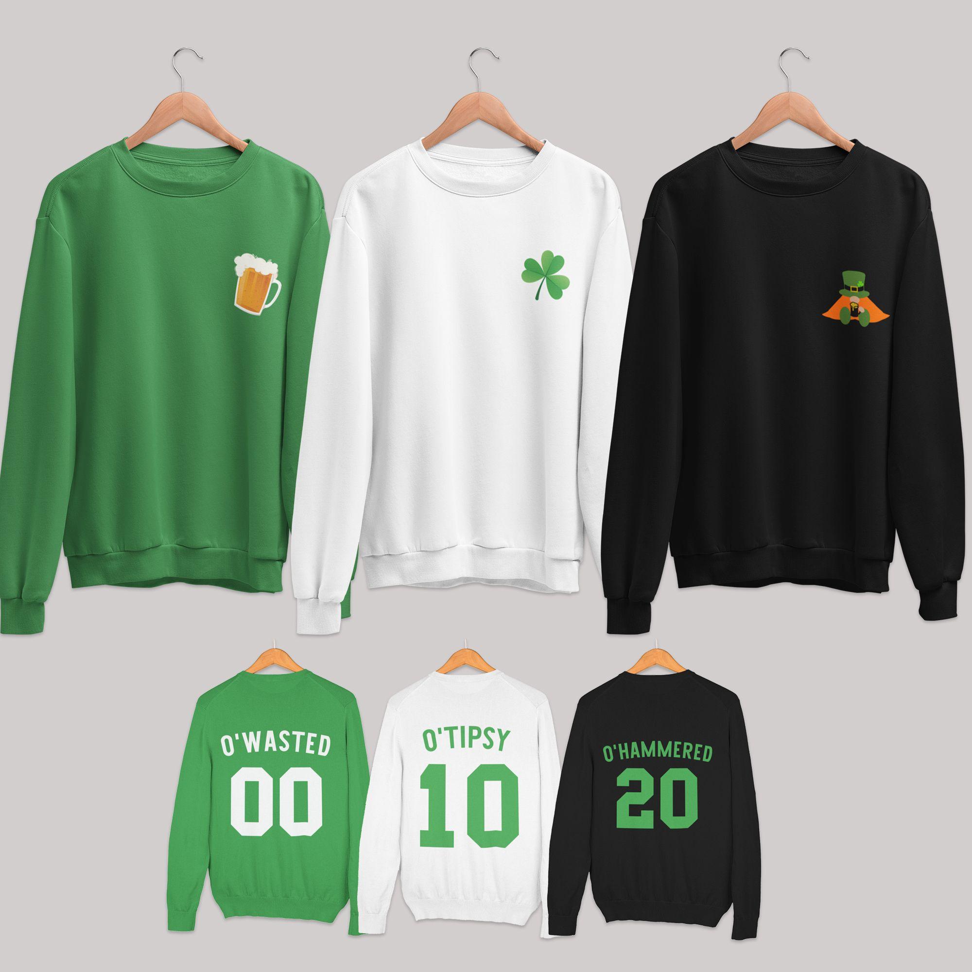 Shamrock Pub Luck of the Irish St Patricks Day Beer Hoodie Pullover Sweatshirt
