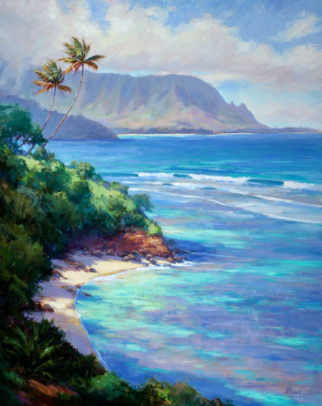 Hawaii Oil Painting Pali Ke Kua Hawaii Painting Hawaii Art Landscape Paintings