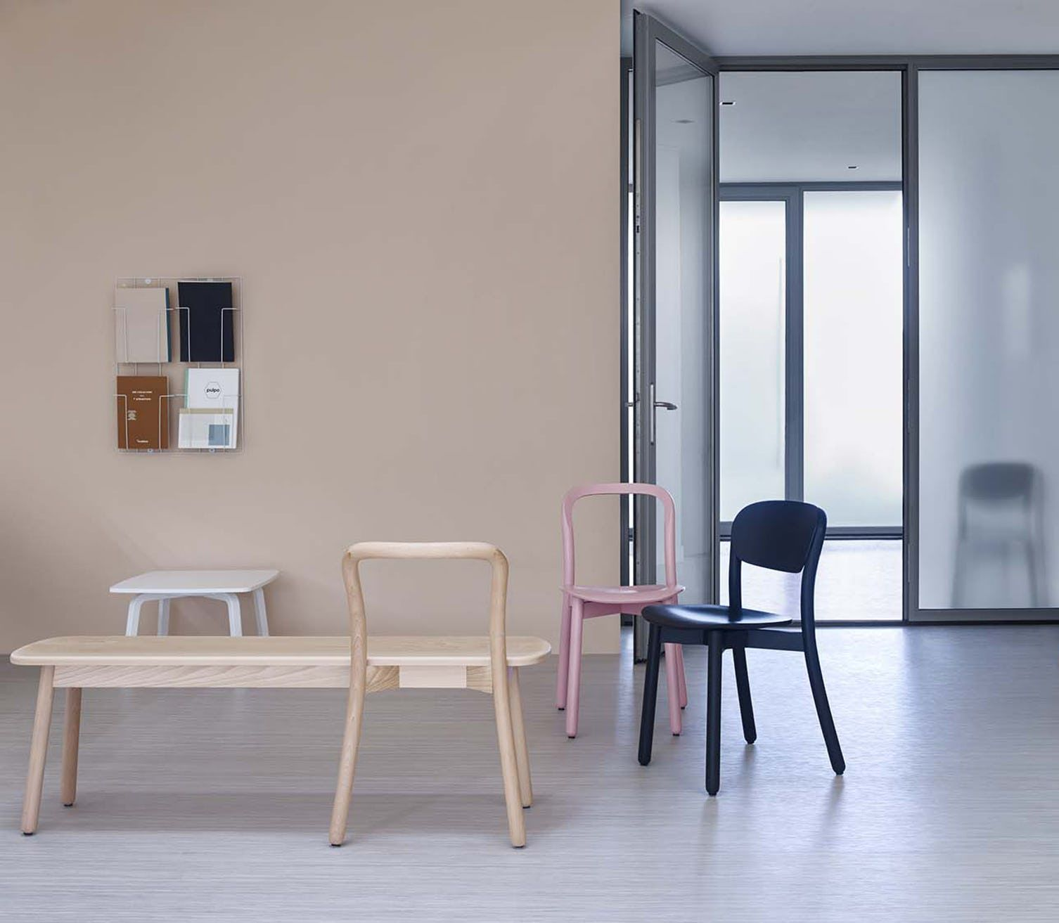 Beech Bench by DUM, now available at Haute Living
