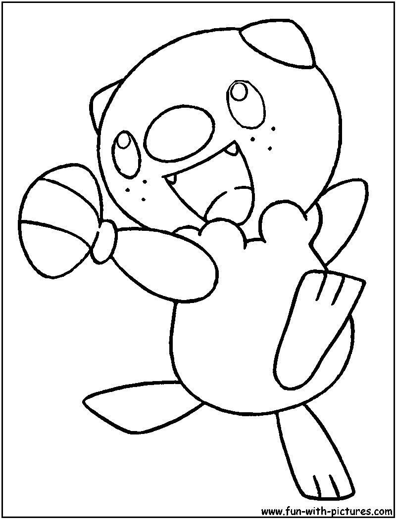 Pokemon Coloring Pages Oshawott ポケモン
