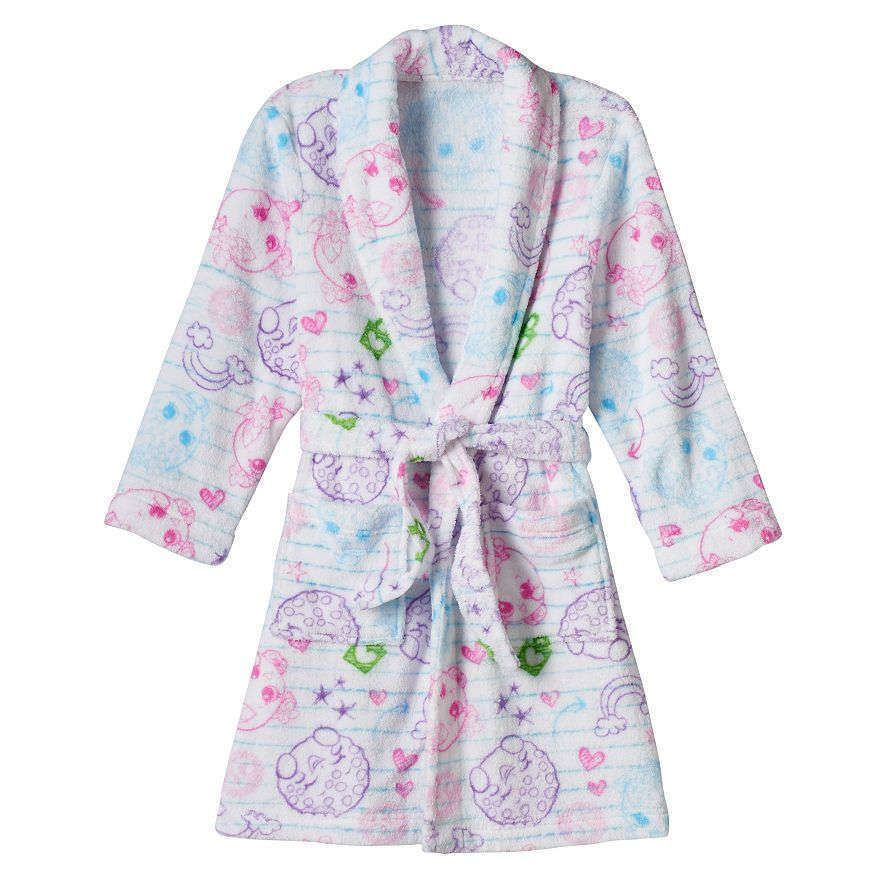 7c45bf60bd Shopkins Notebook doodle-inspired graphics Shopkins Bath Robe Girls Size  6 6X  Shopkins  Bathrobe