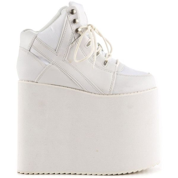 White wedge sneakers, White wedge shoes