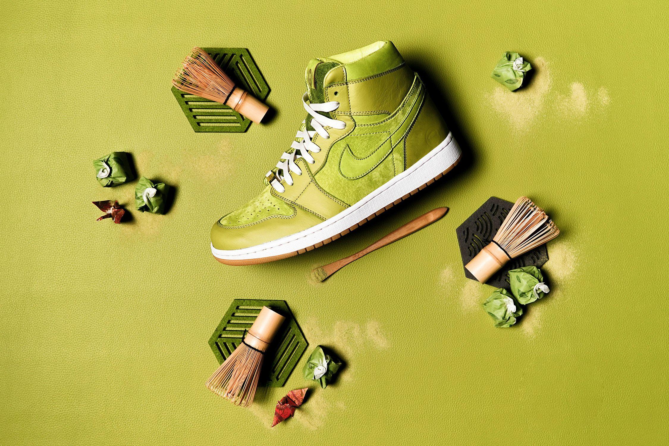 Custom Air Jordan 1 Evokes The Art Of Matcha For The Feet