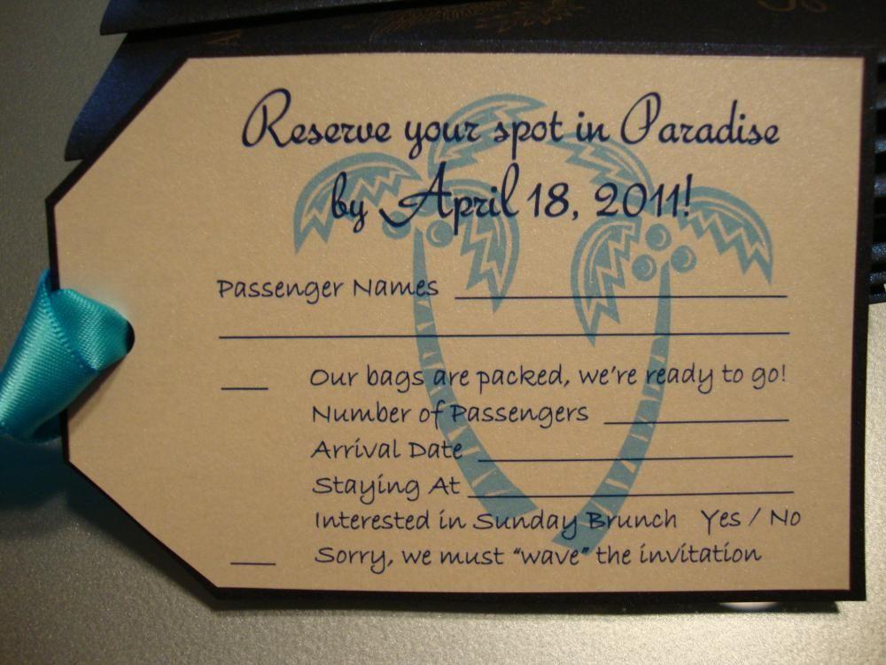 Stephu0027s DIY passport invites pictures instructions
