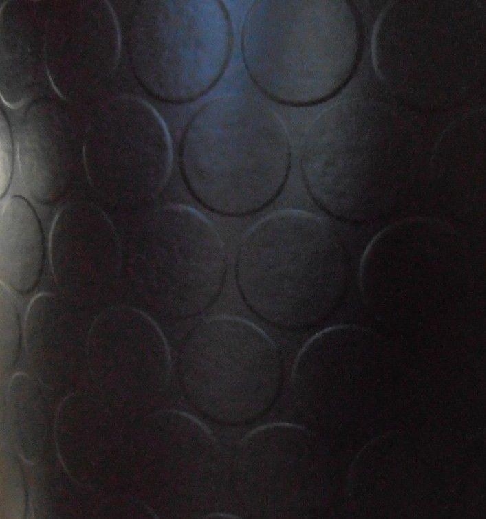 New Pirelli Replica Studded Vinyl Flooring Black Cheap Floor