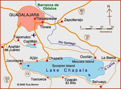 Map Of Lake Chapala Jalisco Mexico Retirees And Residential