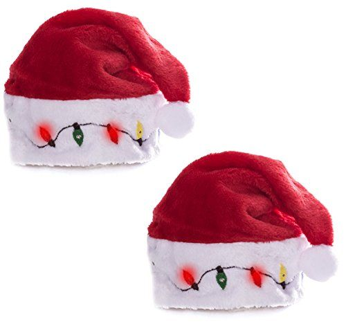 funny christmas hats for adults funny party hats christmas hats 2 blinking santa costume - Funny Christmas Hats Adults