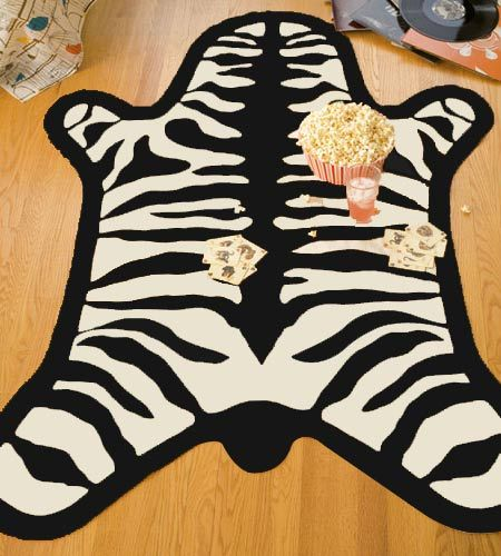How To Make A Faux Zebra Rug Using Black And