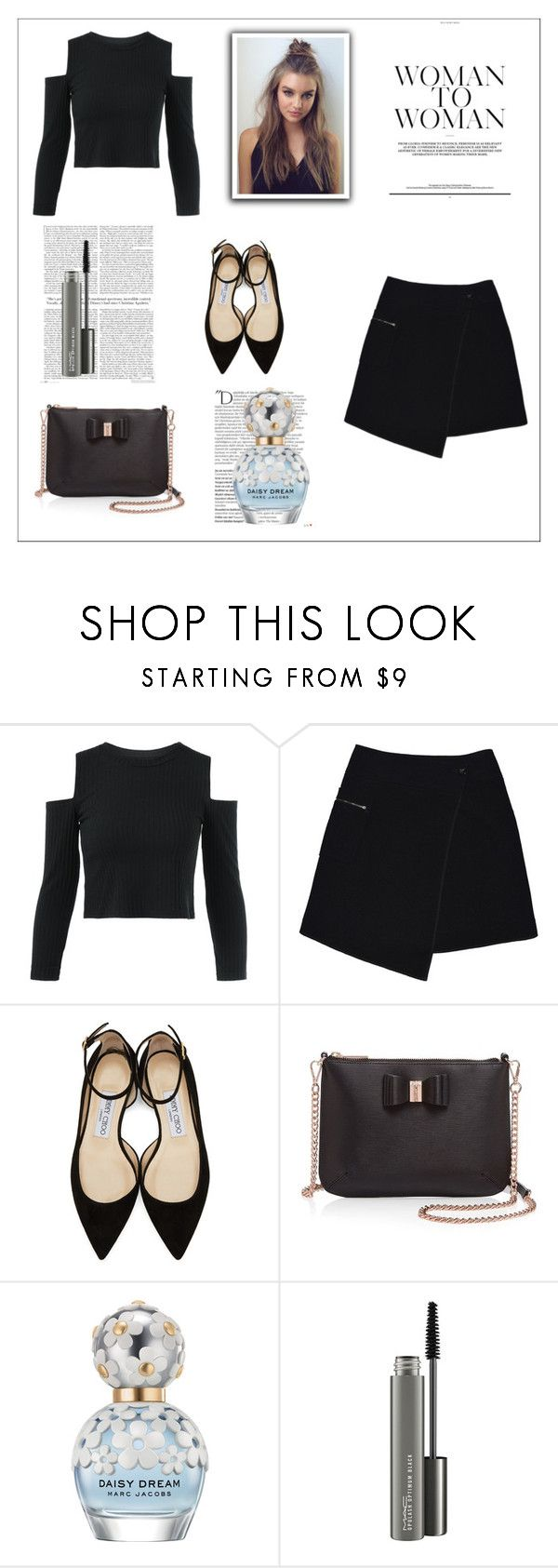 """""""Baby Baby I'm So Crazy..."""" by ambershad ❤ liked on Polyvore featuring MARC CAIN, Jimmy Choo, Ted Baker, Balmain, Marc Jacobs and MAC Cosmetics"""