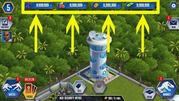 jurassic world the game cheats  game cheats free games