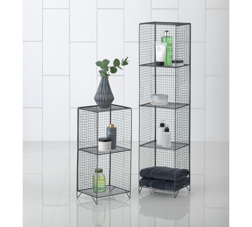 Buy Argos Home 4 Tier Metal Tall Storage Unit Grey Bathroom Shelves And Storage Units Arg Tall Storage Unit Diy Shelves Bathroom Small Bathroom Furniture