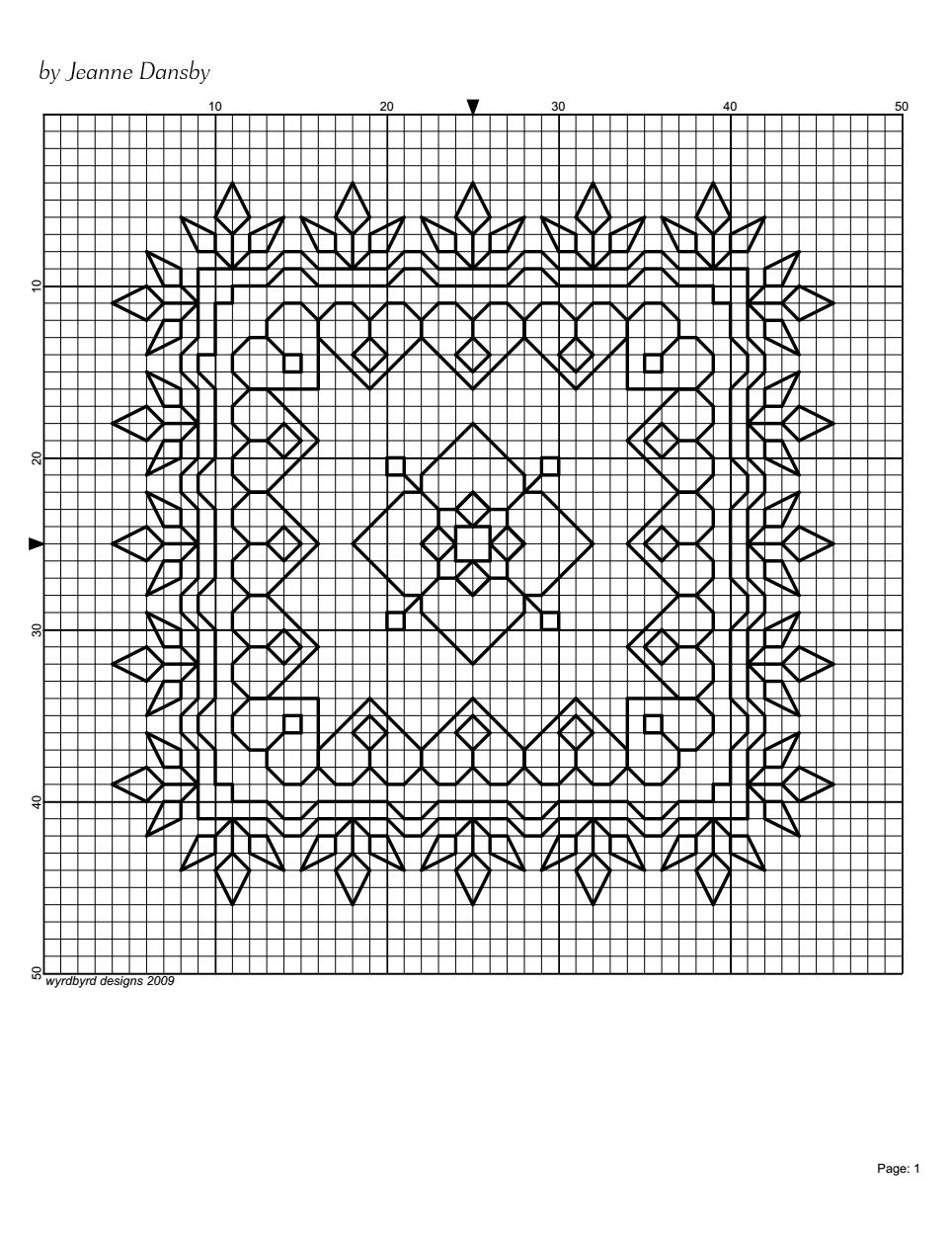 Blackwork Pattern (square) - by Jeanne Dansby {wyrdbyrd designs ...