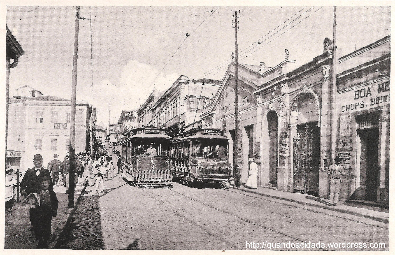 Rua (hoje avenida) São João - Guilherme Gaensly, 1906