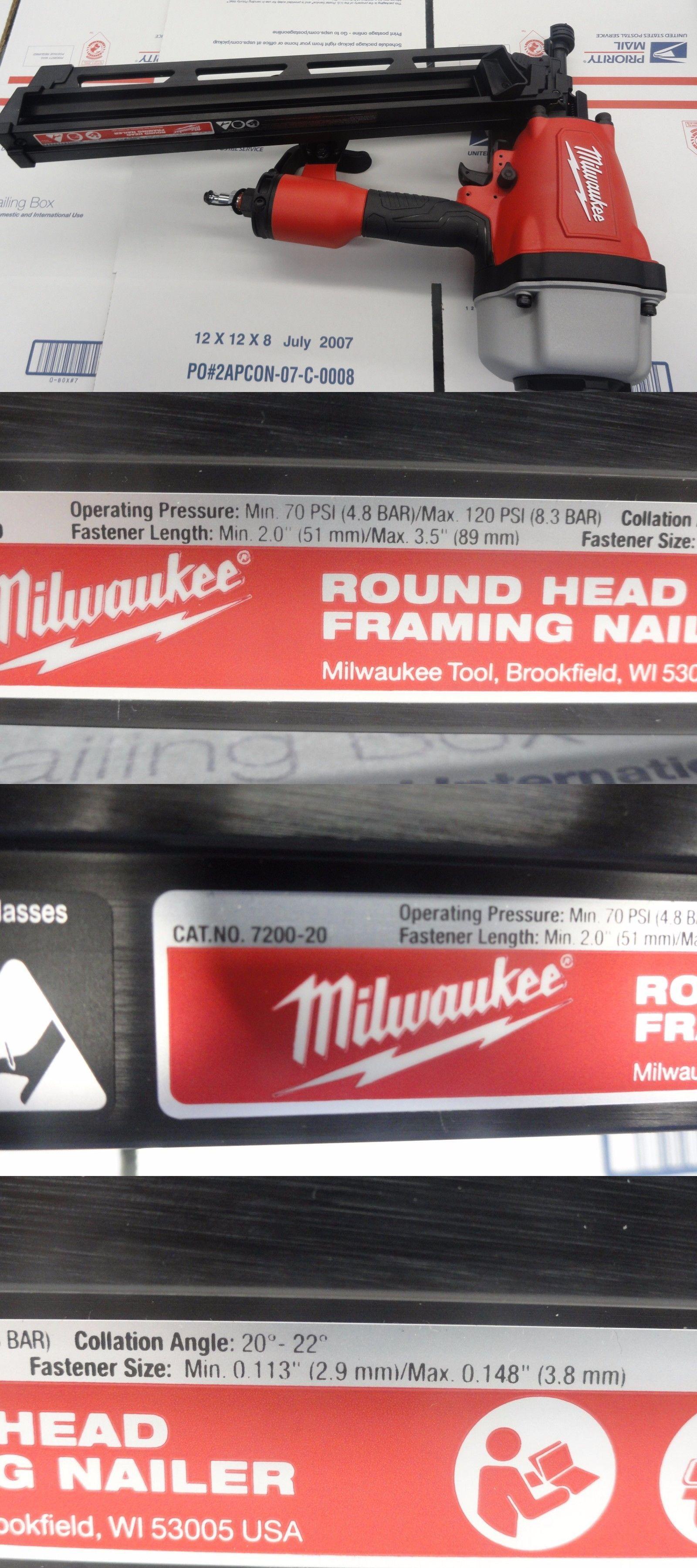 Nail and Staple Guns 122828: Milwaukee 7200-20 3-1 2 Pneumatic Full ...