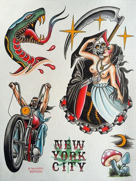 Old School Flash Art Tattoo Designs