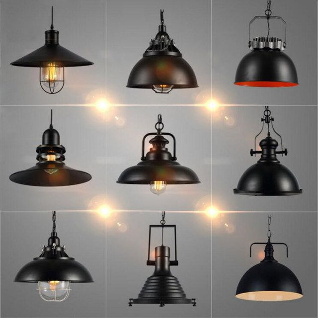 Online Shop Industrial Vintage Pendant Lights with E27