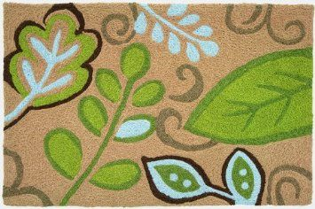 I Love These Rugs Have One In Laundry And They Are Machine Washable Amazon Com Jellybean Area Accent Rug Green Leaves Hom Rugs Jellybean Rugs Colorful Rugs