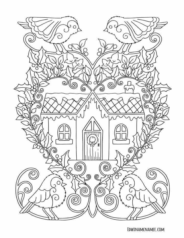Free Coloring Pages Sheets Books Applique Ideas Winter Season Book Art Punch Needle Chloe Colouring In