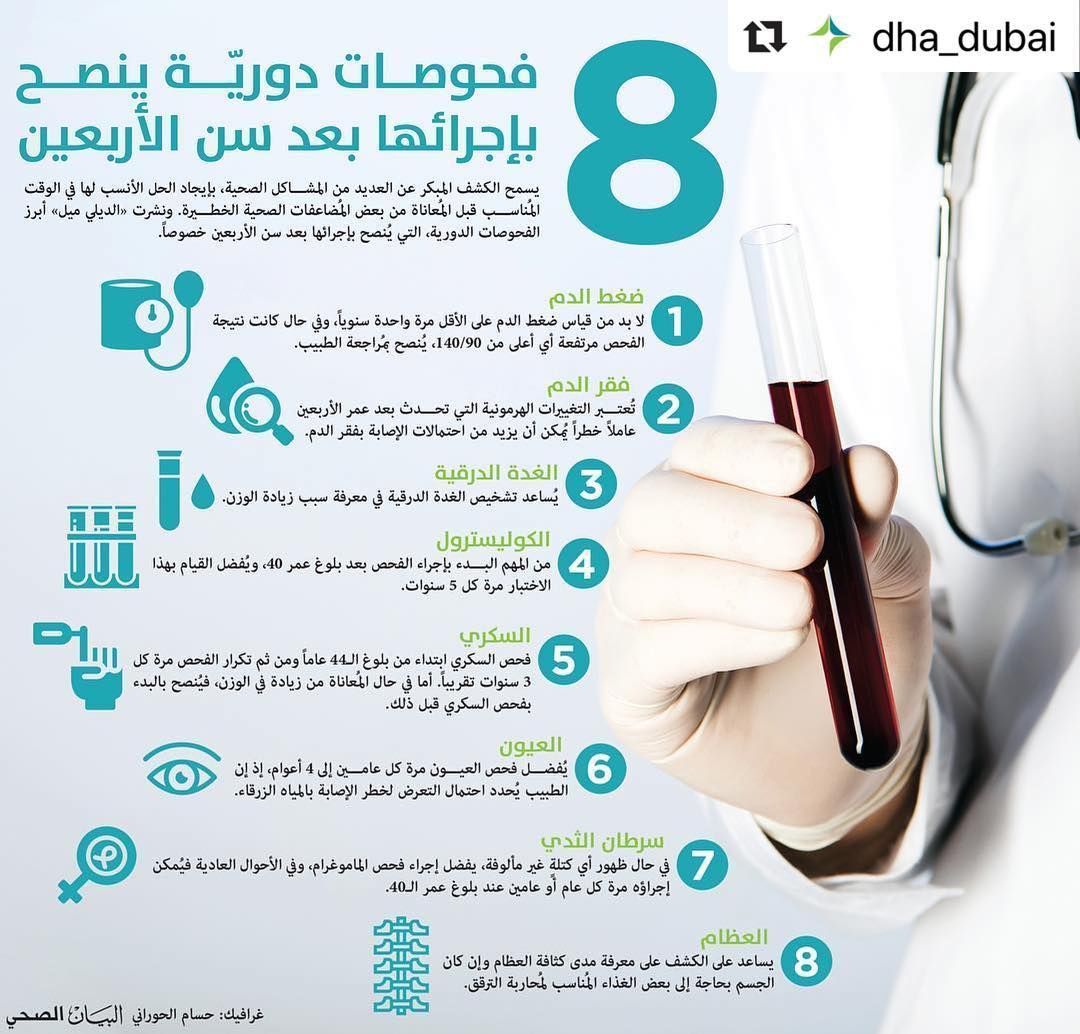 Repost Dha Dubai With Make Repost 8 فحوصات دورية ينصح بإجرائها بعد سن الأربعين البيان الصحي Repost Dha Dubai With Make Repost 8 Dha Dubai How To Make