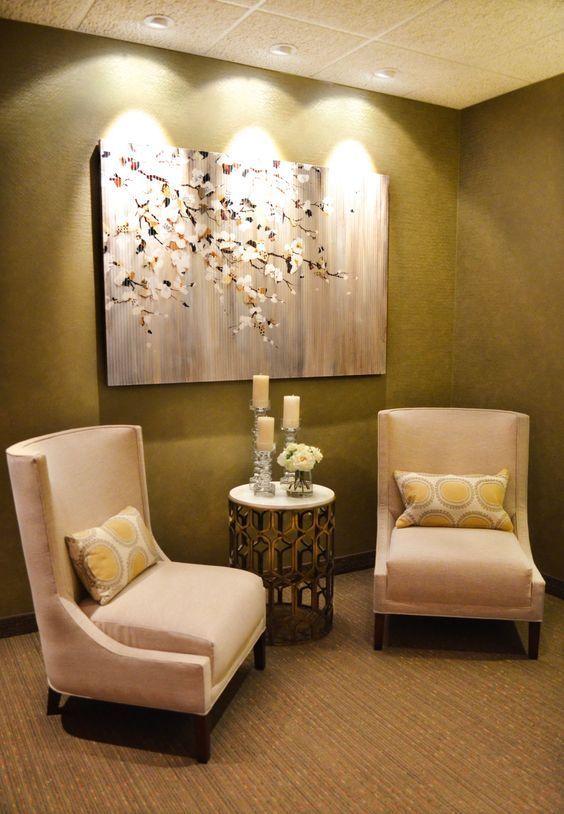 Cozy Waiting Room Waiting Room Decor Massage Room Decor Waiting Room Design