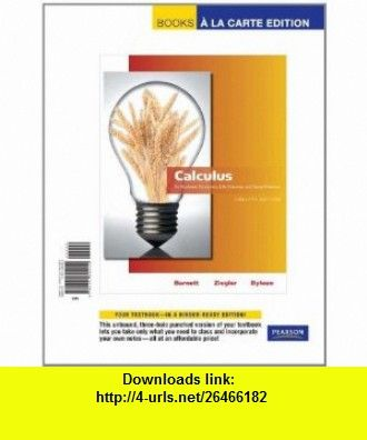 Calculus for business economics life sciences and social sciences calculus for business economics life sciences and social sciences a la carte edition 12th edition 9780321692450 raymond a barnett fandeluxe Choice Image
