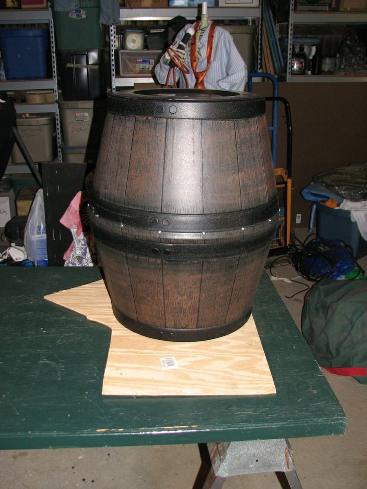 Pirate Barrel Diy Out Of 2 Plastic Planters Home
