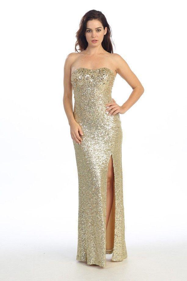Gold dresses long