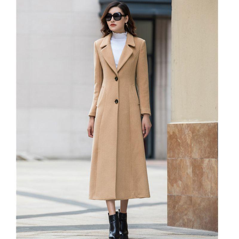 2018 New Design Woman Wool Coat High Quality Winter Jacket Women