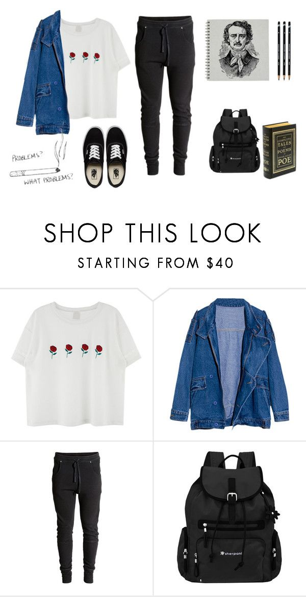 """""""we loved with a love that was more than love"""" by akts on Polyvore featuring Vans and Sherpani"""