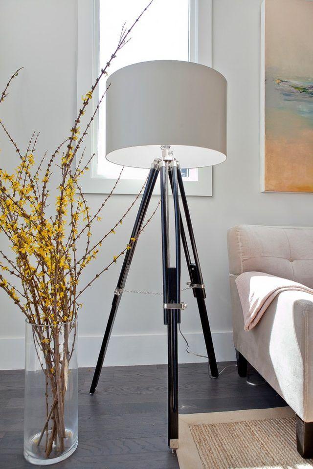 stehlampe modern drei beine originelles design wohnvorschläge ... - Moderne Wohnzimmer Stehlampe