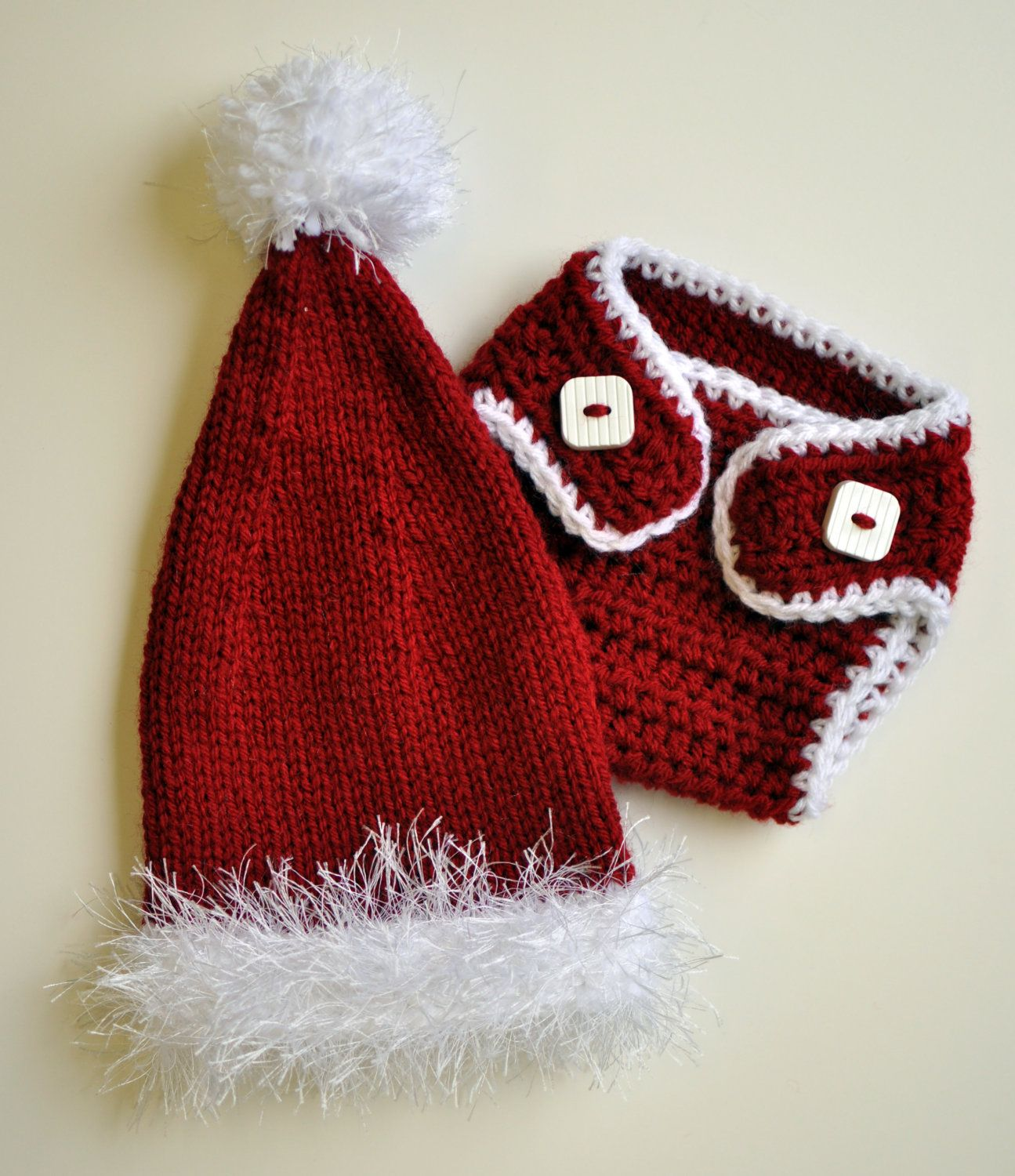 Christmas Photo Prop Knit Baby Hat Newborn Hat by ...