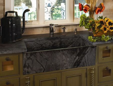 Delicieux Soap Stone Front Apron Kitchen Sink | Gallery Of Soapstone Sink Lighten  Your Kitchen