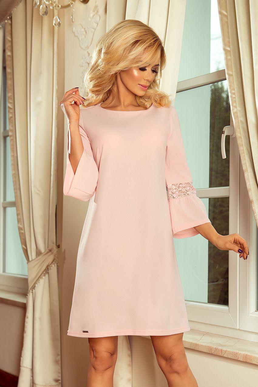 f987c70a14  Elegancka  sukienka S -  XL MARGARET 190-1  pastelowy  róż  święta   BożeNarodznenie  rozkloszowana  sukienki  plus  size  dla  puszystych   duże  rozmiary ...