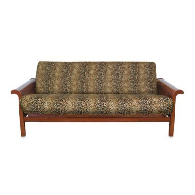 Loft Ny Brushed Twill Futon Cover In Cheetah Print Bedbathandbeyond Ca