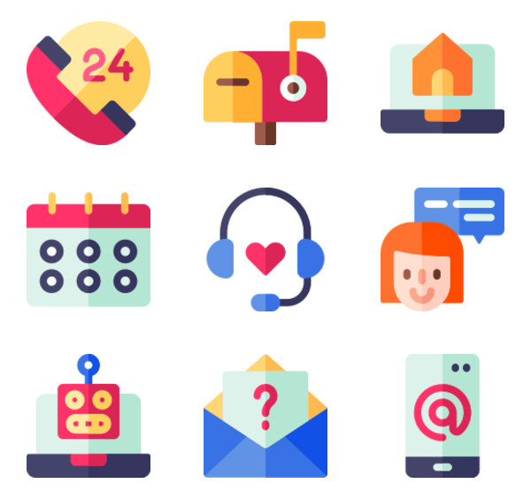 50 Free Vector Icons Of Contact Us Designed By Freepik In 2020 Communication Icon Free Icons Free Icon Packs
