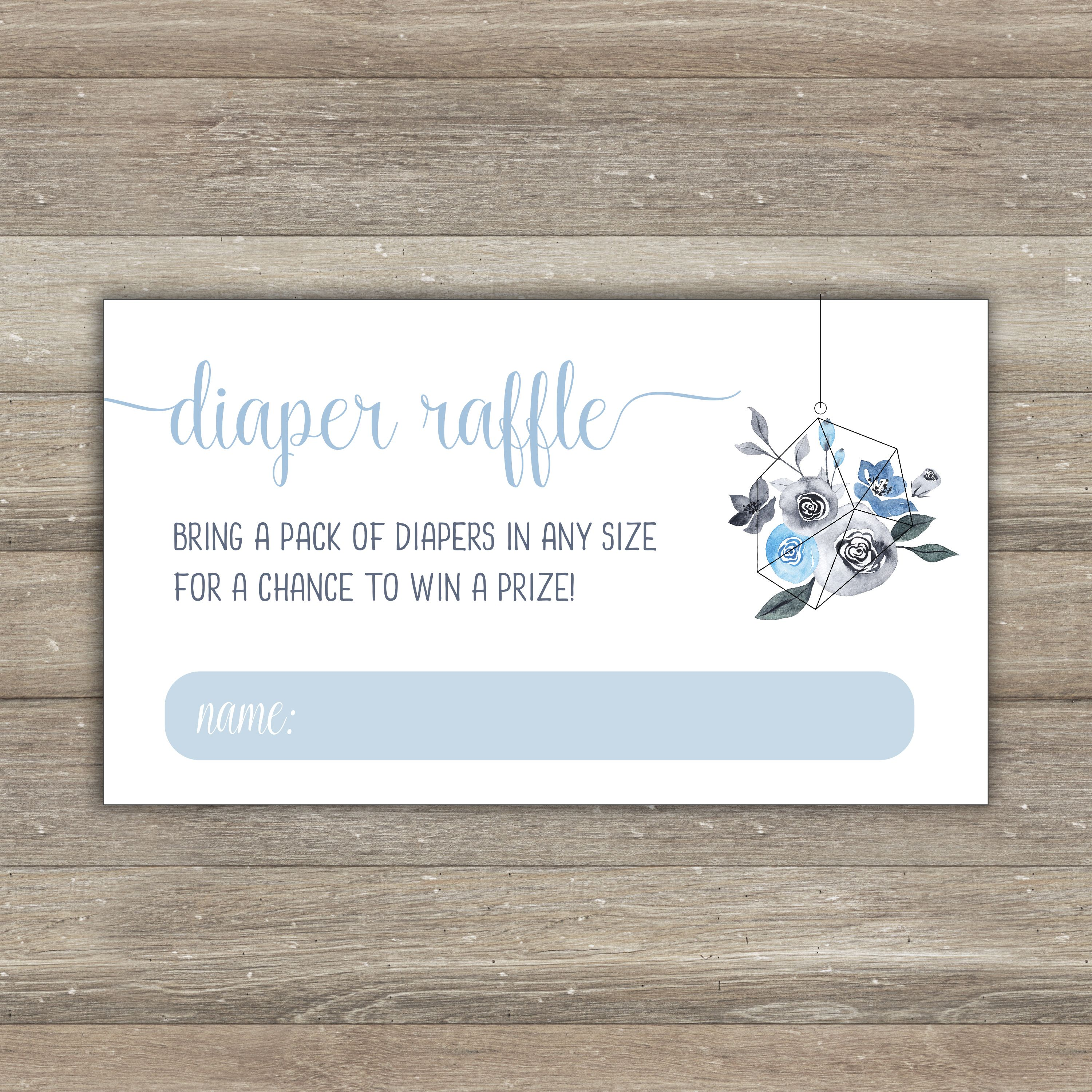 baby blue diaper raffle tickets baby shower printable diaper