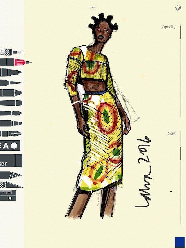 Apps For Fashion Illustration Digital Fashion Illustration African Print Fashion Fashion Illustration