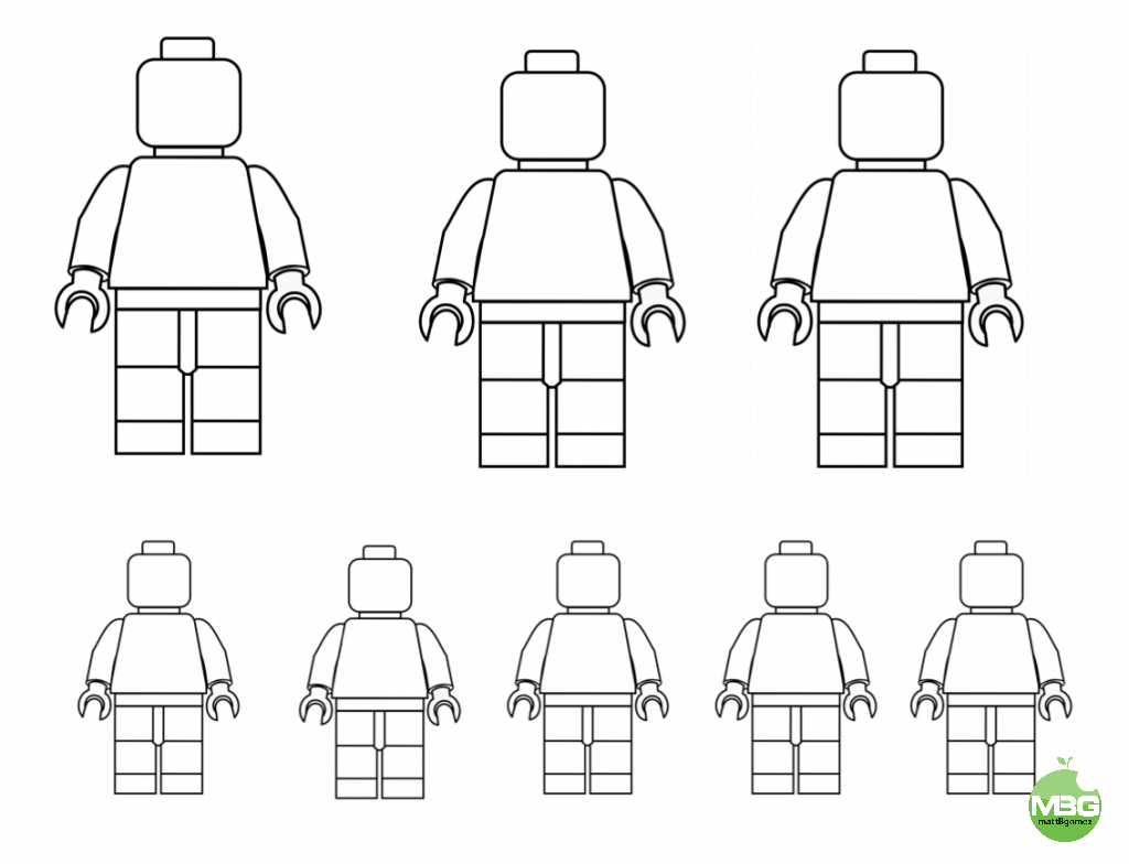 LEGO People Template | Lego People Template- Draw Your Family ...