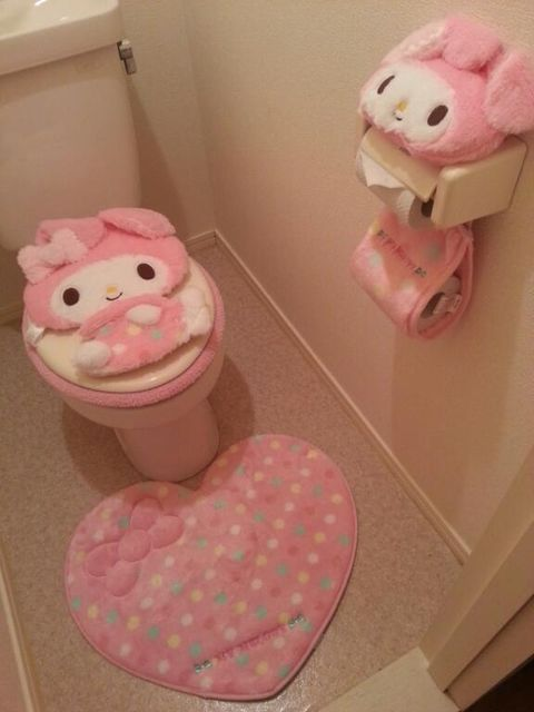 975da0a42 My melody bathroom. My melody bathroom Hello Kitty Bathroom, Hobby Room ...