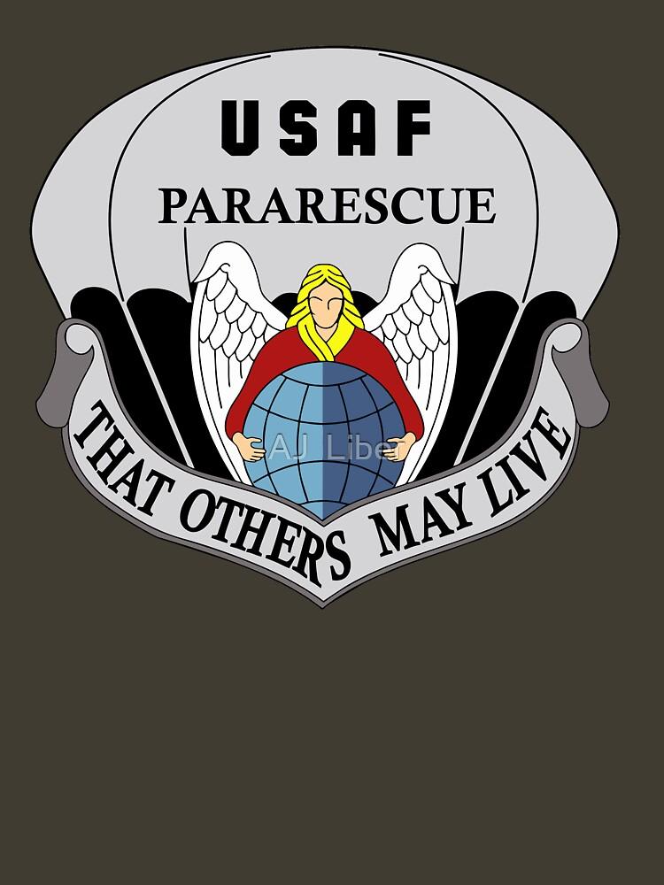 'US Air Force Pararescue Logo' TShirt by AJ Liber in 2020
