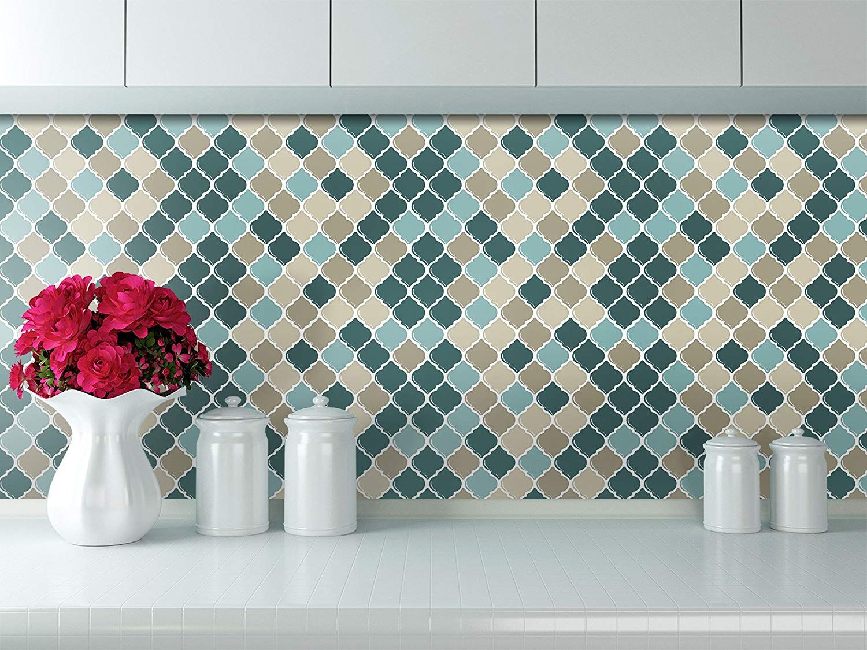 Peel And Stick Tile Backsplash Stick On Self Adhesive Sticky Tile Wall Tiles For Kitchen And Bathroom Kitchen Wall Tiles Small Room Decor Stick Tile Backsplash
