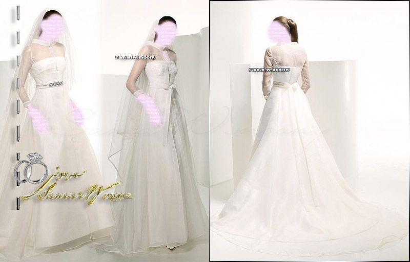 Long Sleeve Wedding Dresses Bridal Gown , White SimPle Chiffon , Idea , Jacket Bridal Wraps