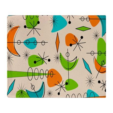 Atomic Boomerangs Throw Blanket on CafePress.com