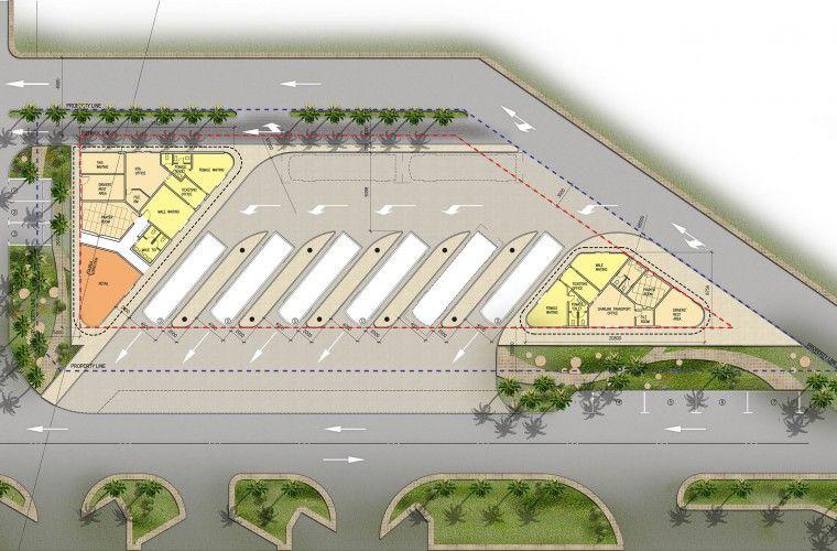 Bus stand design plan #2