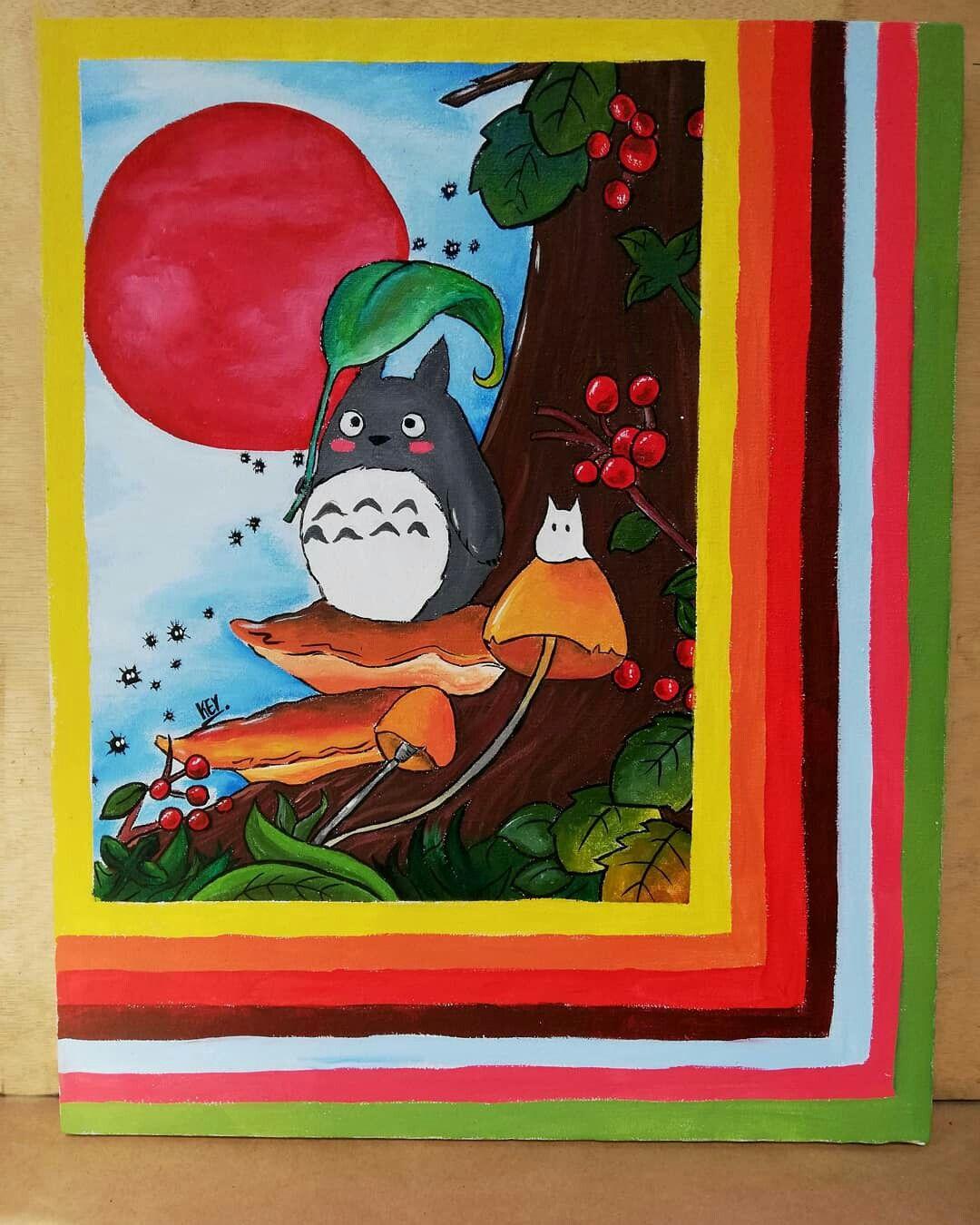 Cuadro En Acrilico De Totoro