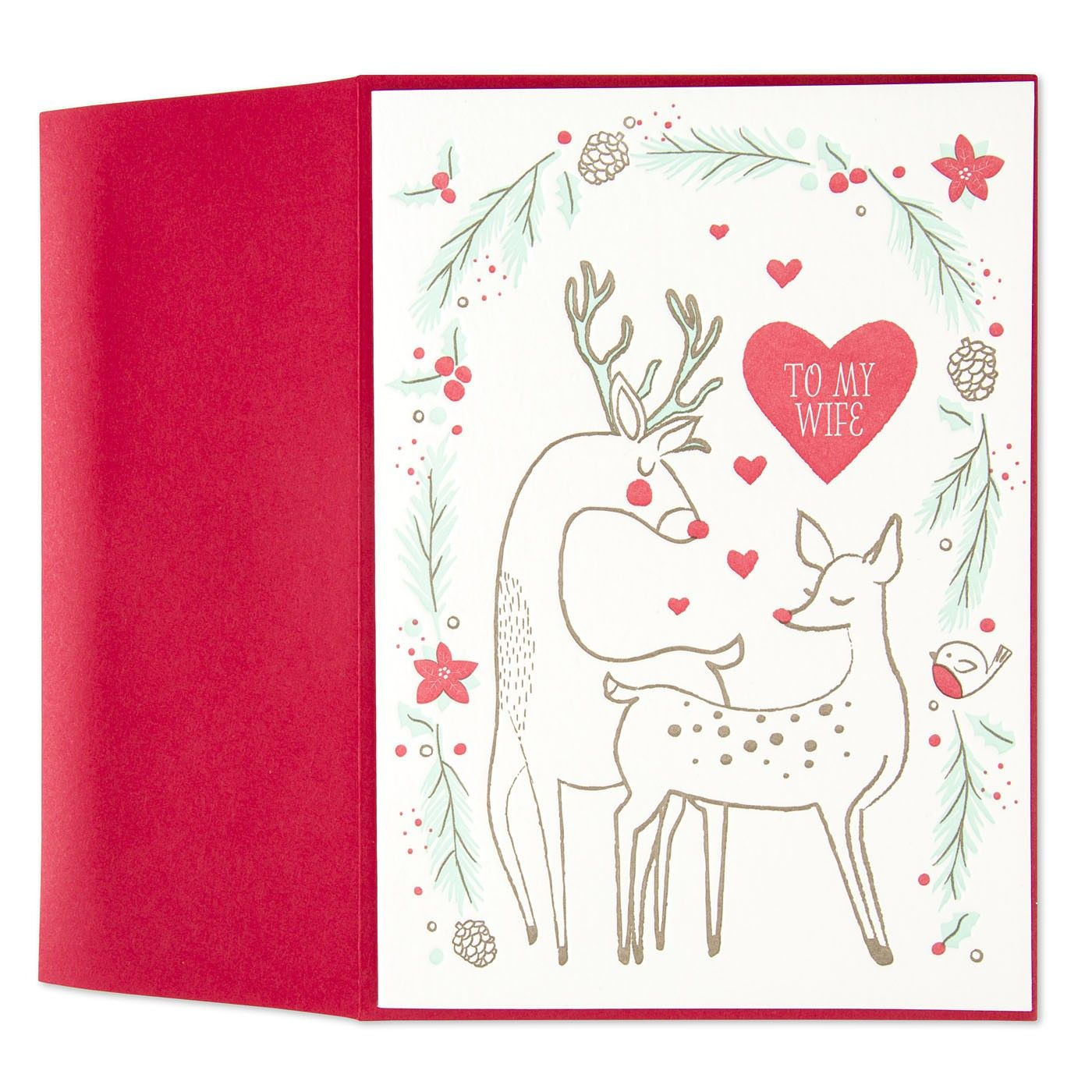 My Deer Wife Christmas Card For Wife Winter Cards Pinterest