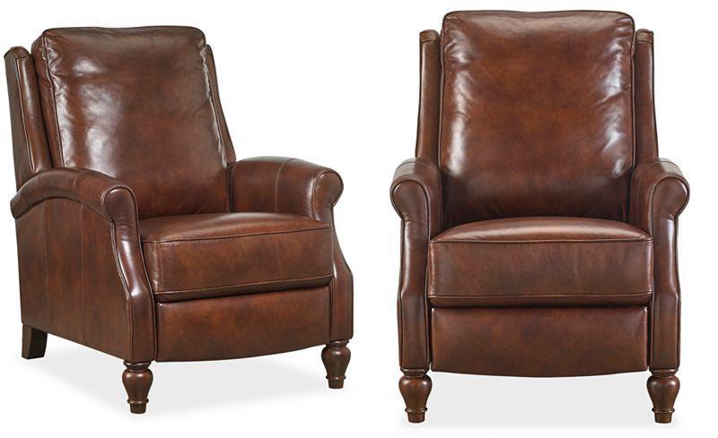 Pleasant Leeah Leather Pushback Recliner Chairs Recliners Inzonedesignstudio Interior Chair Design Inzonedesignstudiocom