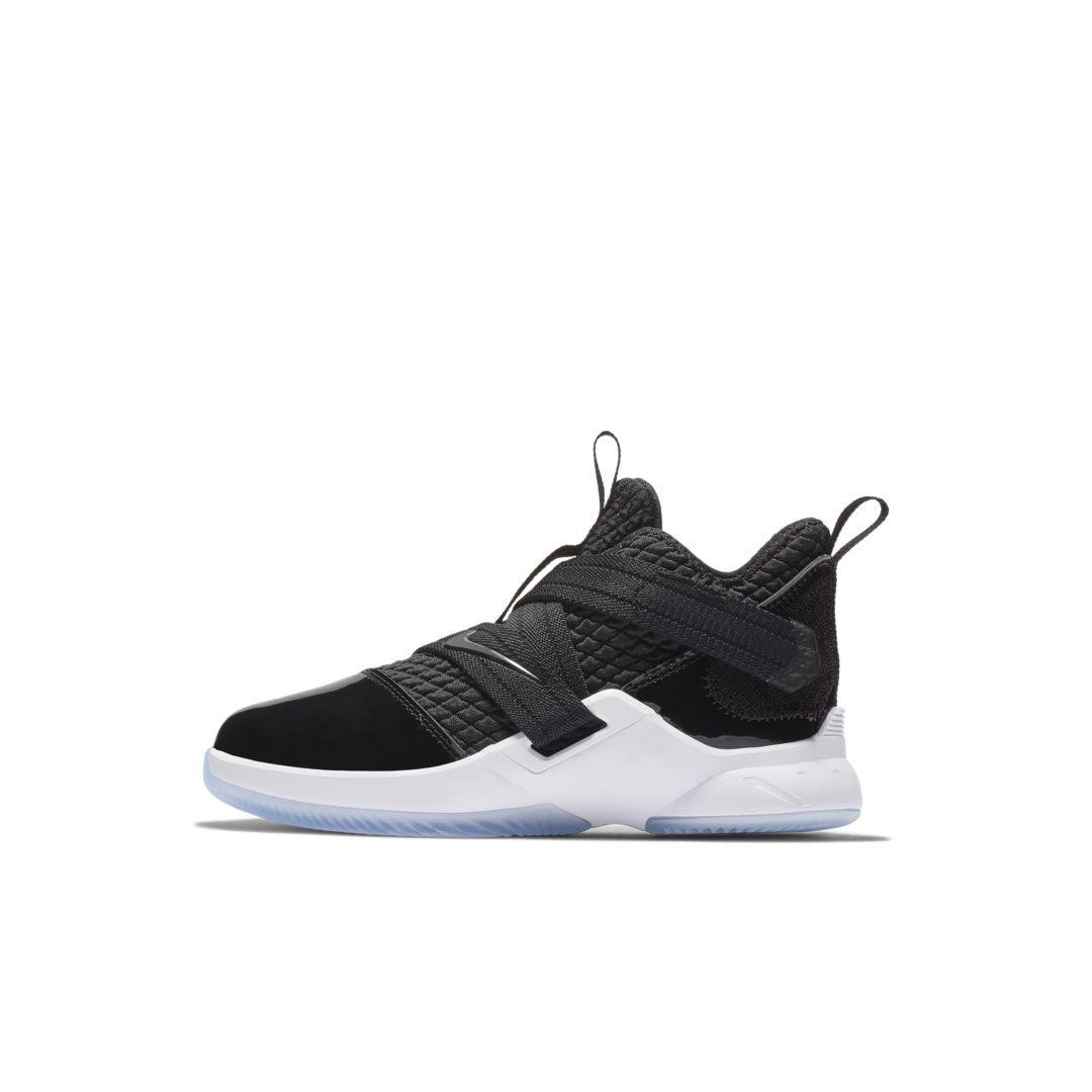 e3e35d493cb LeBron Soldier 12 SFG Little Kids Shoe Size 1.5Y (Black)