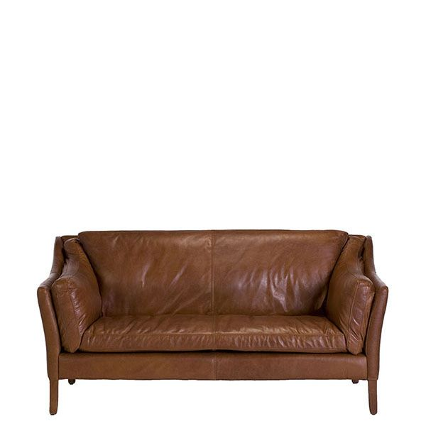 The Dillon High Back 2 Seater Sofa - Leather Sofas - Living Room ...